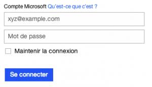 Connexion à votre compte Hotmail.