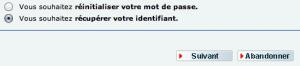 Récupération de votre identifiant ou de votre mot de passe CIC