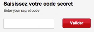 Saisissez votre code secret à 5 chiffres