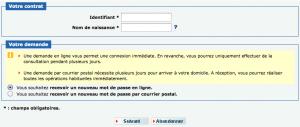 Demande de réinitialisation de votre mot de passe CIC