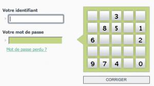 Portail d'authentification BNP : entrez votre identifiant et mot de passe