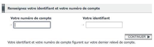Entrez votre numéro de compte et identifiant BNP pour renouveller votre mot de passe