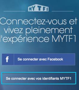 """Choisissez l'option 2 : """"Se connecter avec ses identifiants TF1"""""""