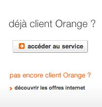 Accéder à votre espace messagerie Wanadoo en allant sur l'espace messagerie Orange