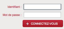 Entrez votre identifiant et votre mot de passe pour vous connecter