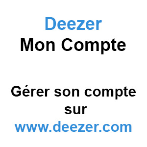 deezer mon compte g rer son compte sur. Black Bedroom Furniture Sets. Home Design Ideas