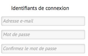 Entrez votre adresse email et choisissez un mot de passe