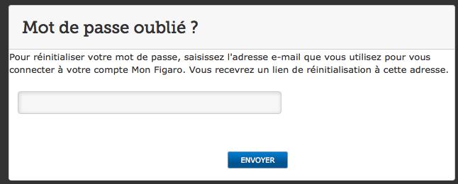 Entrez votre adresse mail pour changer votre mot de passe