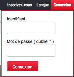 Entrez votre pseudo et votre mot de passe, puis cliquez sur Connexion