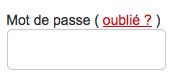 """Cliquez sur le lien """"Oublié ?"""" pour réinitialiser votre mot de passe CCM"""