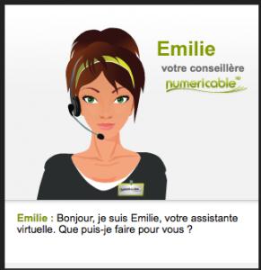Conseillère virtuelle de Numericable pour répondre à vos questions
